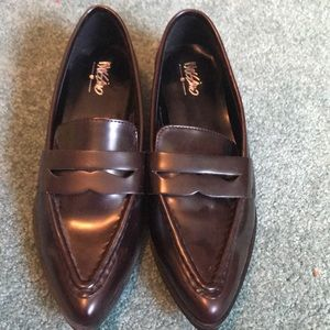 Dark brown Pointed Penny Loafers